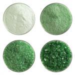 Light Green Bullseye Transparent Frit